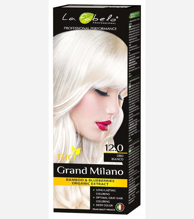 Крем-краска для волос био 100мл тон 12.0: белое золото La Fabelo Professional