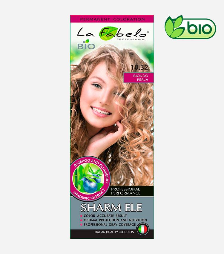 Крем-краска для волос платиновый блонд, био 50мл тон 10.32 La Fabelo Professional