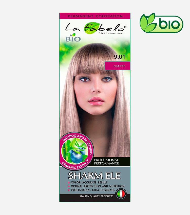 Крем-краска для волос, натуральный светло-русый цвет,  био 50мл тон 9.01 La Fabelo Professional