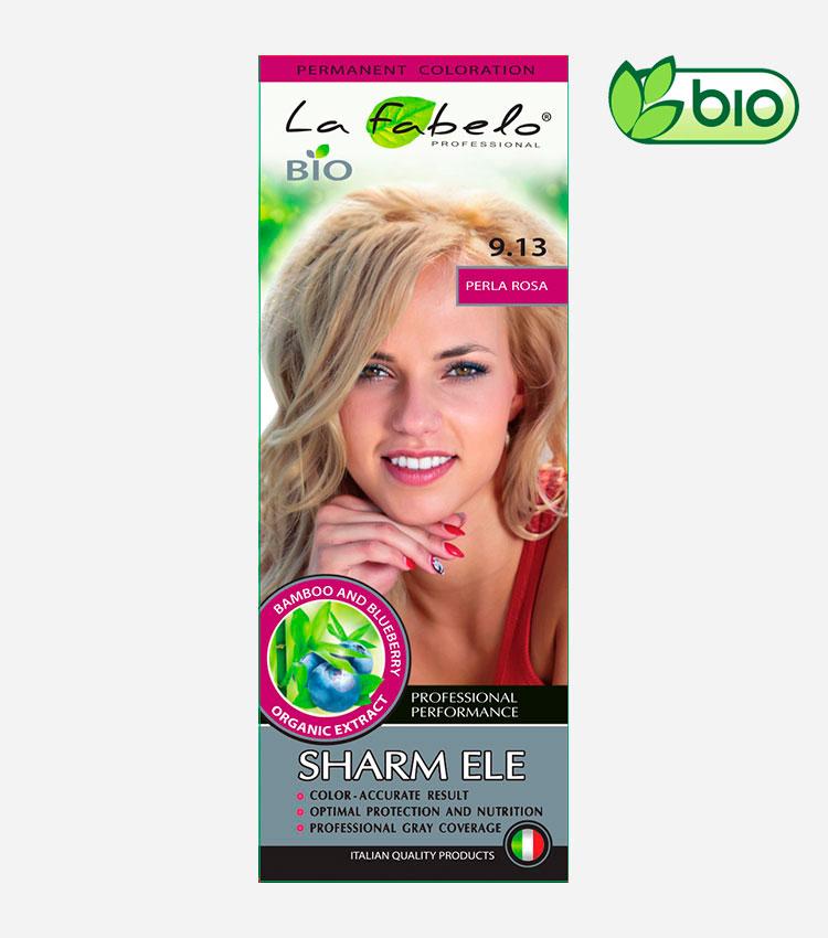 Крем-краска для волос золотистый светло-русый цвет, био 50мл тон 9.13 La Fabelo Professional
