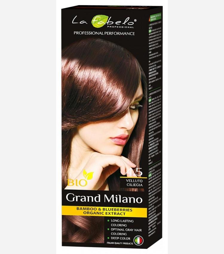 "Крем-краска для волос ""Бархатная вишня"" био 100мл тон 4.5 La Fabelo Professional"