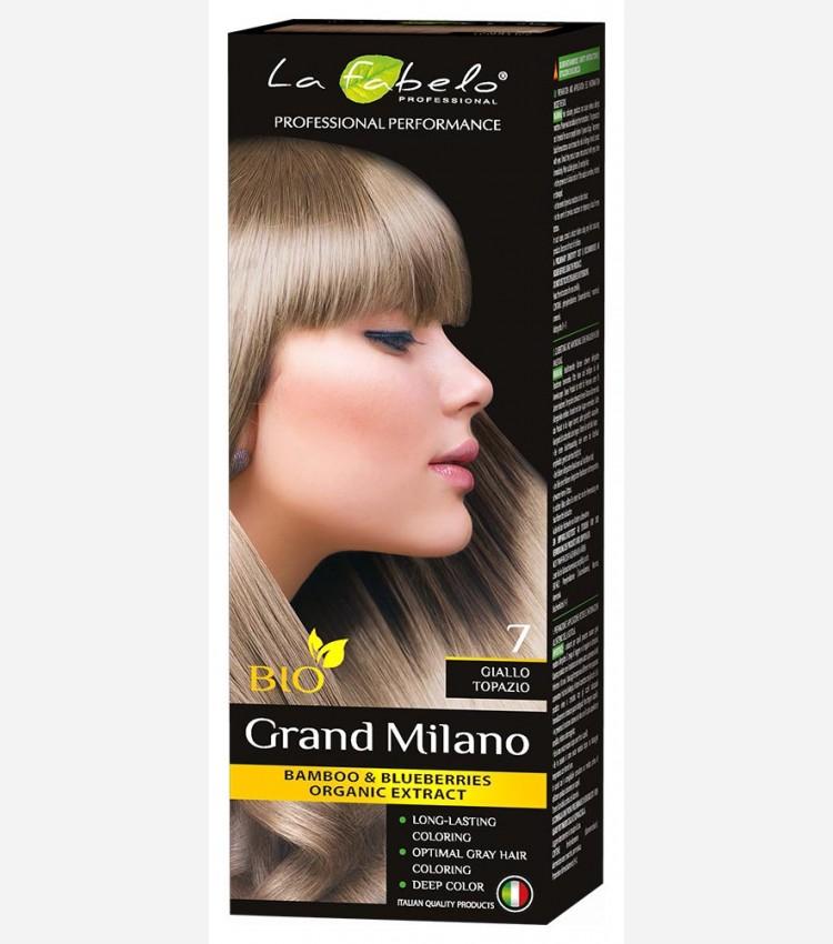 Крем-краска для волос светло-русый цвет БИО 100мл тон 7 La Fabelo Professional