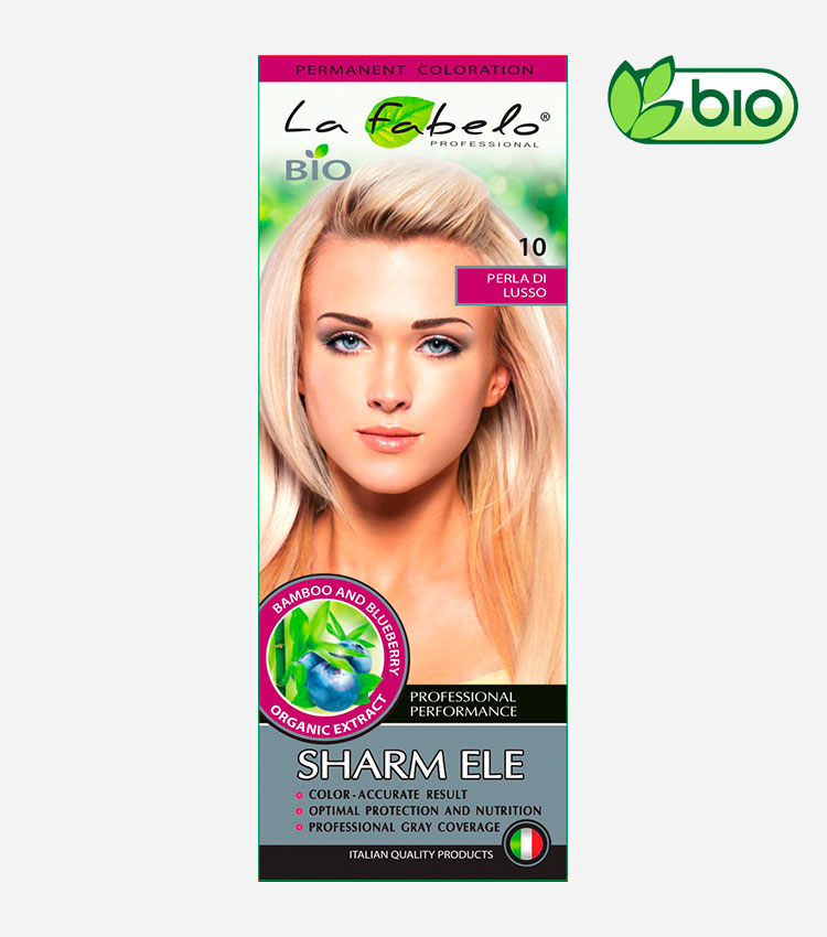 Крем-краска для волос био 50мл тон 10 La Fabelo Professional