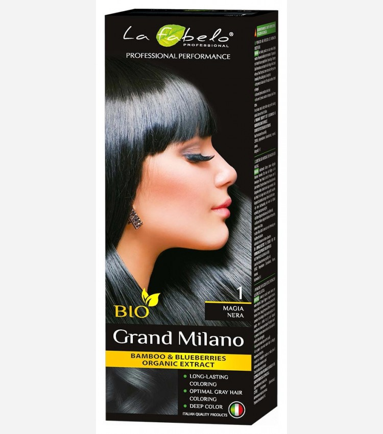 Черная крем-краска для волос био 100мл тон 1 La Fabelo Professional