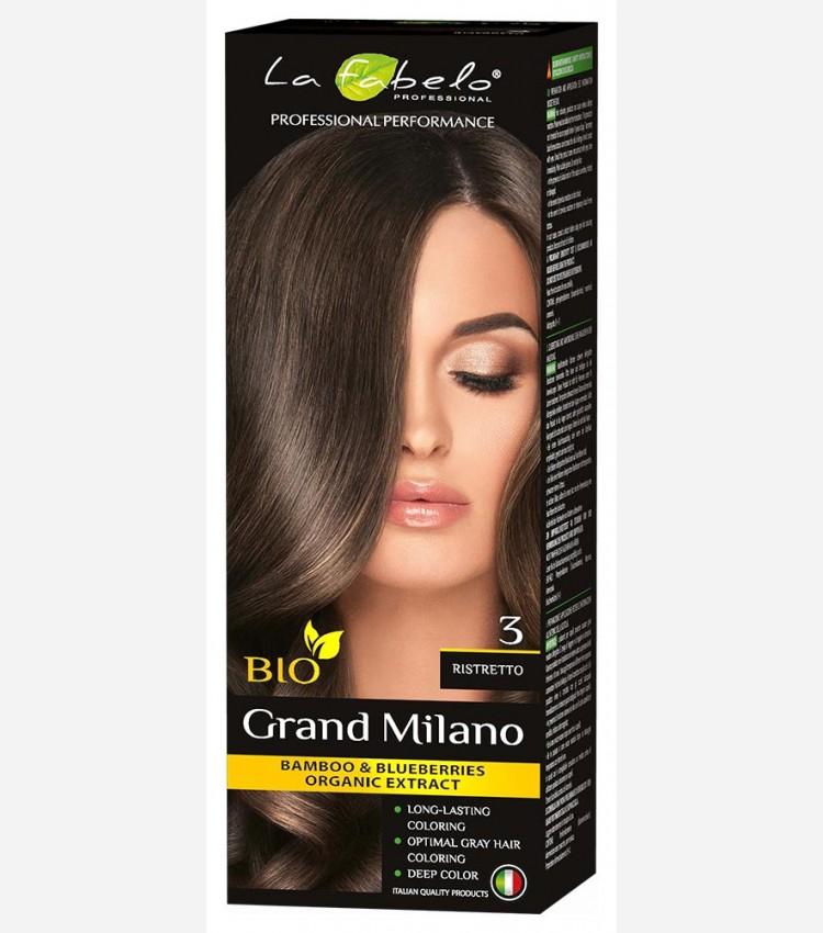 Крем-краска для волос темный каштан био 100мл тон 3 La Fabelo Professional