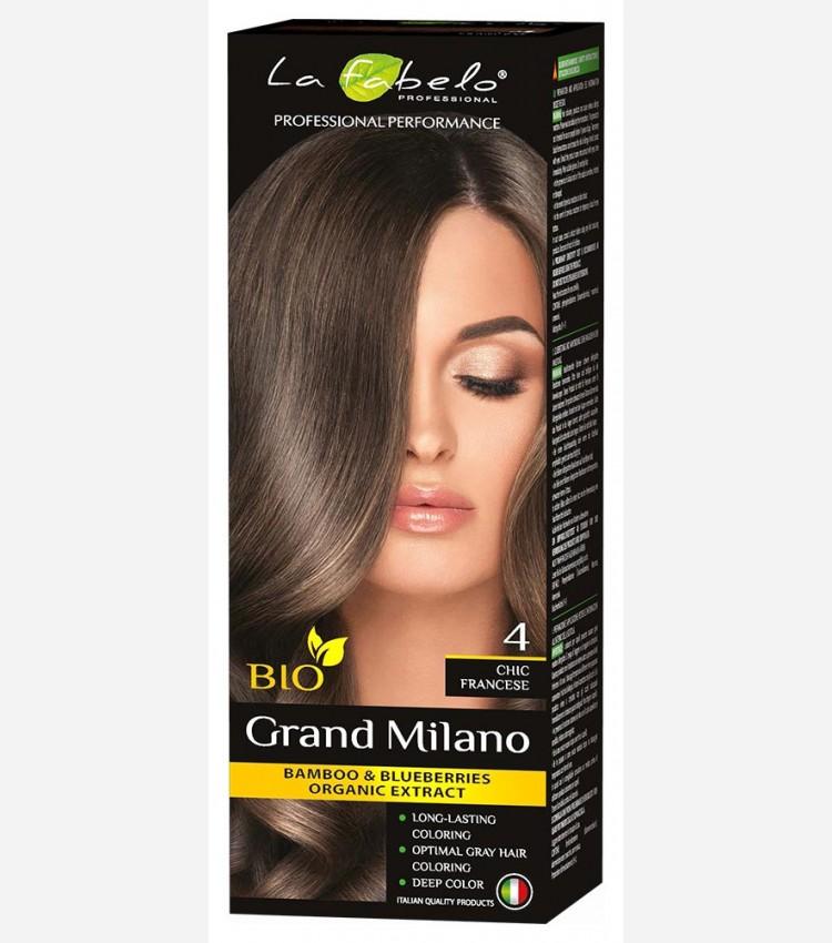 Каштановая крем-краска для волос био 100мл тон 4 La Fabelo Professional