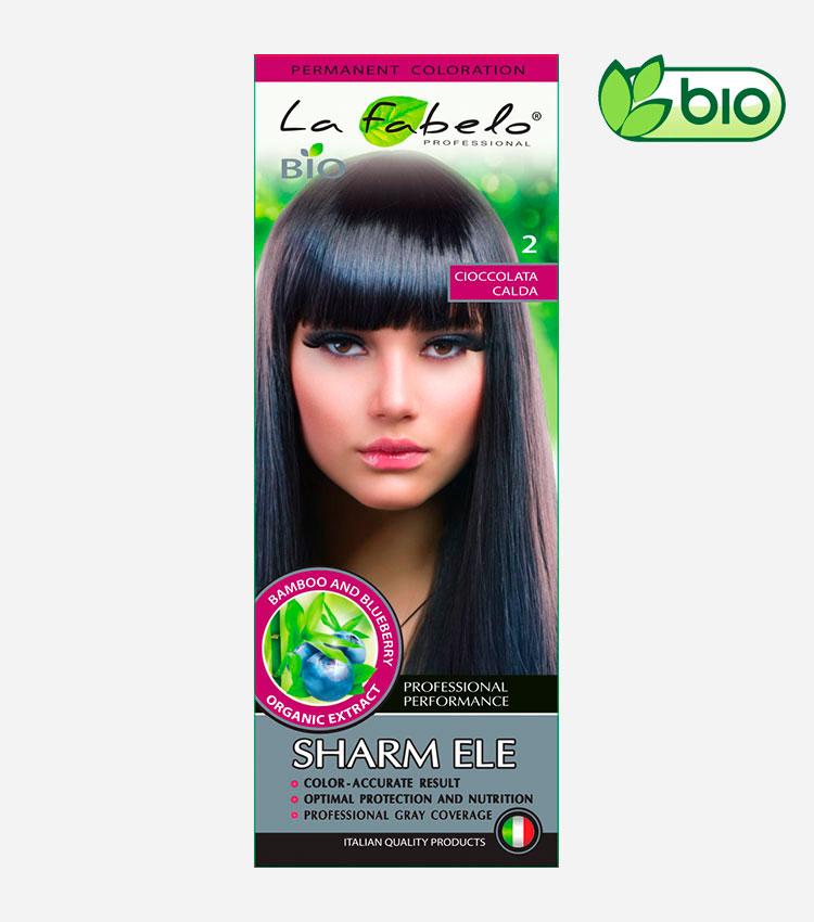 Крем-краска для волос био 50мл тон 2 La Fabelo Professional