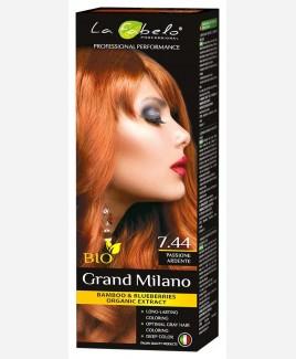 Крем-краска для волос медный цвет, био 100мл тон 7.44 La Fabelo Professional