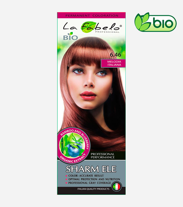 Крем-краска для волос био 50мл тон 6.46 La Fabelo Professional